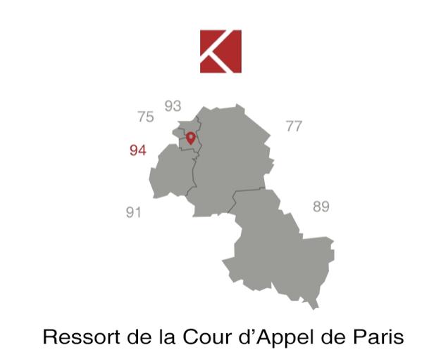 Départements ressort de la cour d'appel de Paris
