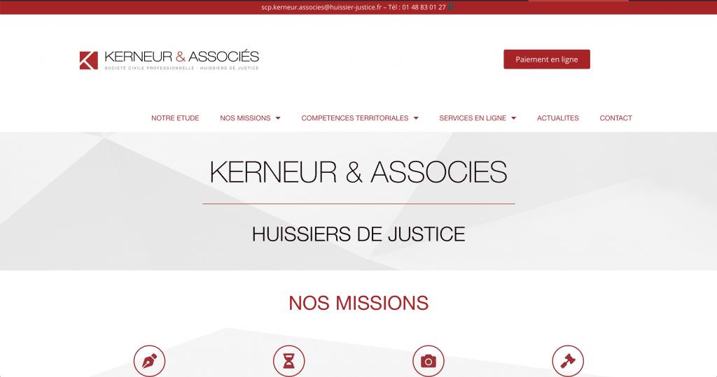 Accueil du site de la SCP Kerneur et associés - Huissiers 94 Val de marne
